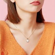 母亲节好礼,简约大气:周大生 S925福袋吊坠珍珠项链