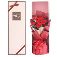 母亲节送礼!XianLiFeng 鲜里丰 红色康乃馨鲜花礼盒 19支