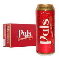 德国原装进口 Puls 宝乐氏 经典黑啤酒 500mlx24听x2件