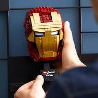 新低!LEGO乐高 超级英雄系列 钢铁侠头盔 76165