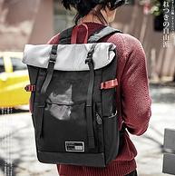 新低!日本潮牌,暗扣防盗+防水:佑一良品 时尚潮流双肩包