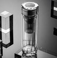 富光高端线,钻石水晶切割工艺:320ml 茶马仕 保温玻璃杯