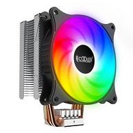 新低!4热管+温控+光污染:PCCOOLER超频三 东海 X4 CPU散热器