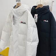 反季断码清仓!-10℃-10℃可穿、可当羽绒被:FI LA 菲拉 80%鸭绒 情侣中长款运动羽绒服