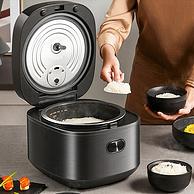 一键智能低糖,麦饭石不粘内胆:4L大容量 九阳 多功能全自动电饭煲