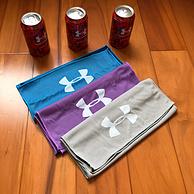 超吸汗1秒降温、铁罐装:UA 安德玛 冰感 运动毛巾