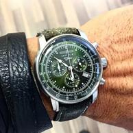 大降330元!德国制造 Zeppelin 齐博林 100周年纪念款 8680-4 男士三眼计时石英手表