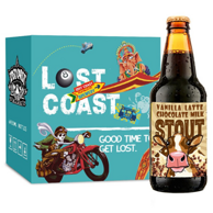 LOST COAST 迷失海岸 香草拿铁牛奶世涛啤酒 355mlx6瓶