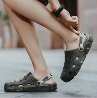 清凉通风大鞋头,EVA一体成型穿不坏:乔思森 男女 洞洞鞋凉拖鞋 18.9元包邮