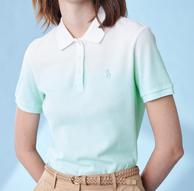 渐变色设计、不挑身材:Hazzys 渐变系 女款Polo衫
