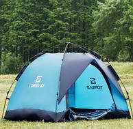 3秒速开:探路者 全自动露营折叠帐篷