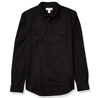 亚马逊销冠!棉麻混纺,贴身小空调:CK卡尔文·克莱恩 男士 亚麻棉长袖衬衫