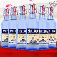 中华老字号,国企改制,出口型京道蓝瓶:500mlx6瓶 永丰 42度二锅头白酒