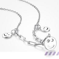 上市企业,S925纯银:周大生 简约笑脸锁骨链