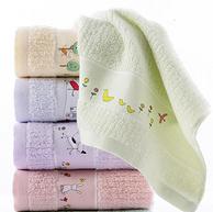 A类婴幼儿标准,100%精梳长绒棉:3条装 金号 纯棉毛巾