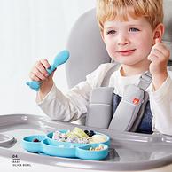 锻炼宝宝自己吃饭:gb 好孩子 儿童硅胶餐盘