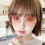 宝岛眼镜旗下,渐变色镜片,大脸显小:JOJO 男女 无框太阳镜
