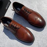 底王+英伦时尚!ECCO 布洛克 小牛皮 皮鞋
