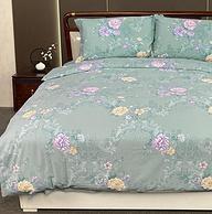 水星罗莱面料代工厂,100%新疆长绒棉:华福 纯棉磨毛斜纹四件套 1.8米床款