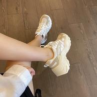 【预售】隐形增高5CM+多色飞织面料:FILA 菲拉 鱼刺老爹鞋