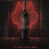 新低!智利原瓶进口,干露酒厂 红魔鬼 魔尊系列干红葡萄酒 750mL*6瓶 (赠2个杯子+醒酒器)