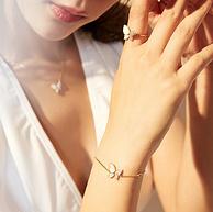 周大生子旗下,翅膀可扇动:设界 S925银蝴蝶项链 戒指 手链