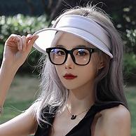 商场同款,显瘦大黑框:乐申 1.56防蓝光眼镜 可配0-600度近视镜片