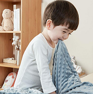 50S磨毛精梳棉,四季通用:80x100cm 丹麦 欧孕 四季儿童3D豆豆毯毛毯礼盒装