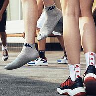 4.9分,200针紧实超弹精梳棉:3双 Kappa 男女 专业运动棉袜