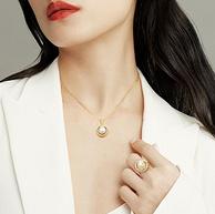 上市企业,纯银镀金:周大生 埃及遗珠系列 S925银珍珠项链