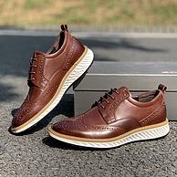 可慢跑的正装皮鞋:Ecco爱步 新款雕花正装运动皮鞋