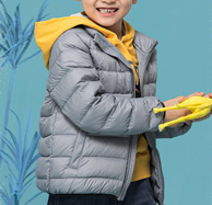 北美童装TOP品牌 The Children's Place 2021秋季新款90%白鸭绒男女童反光印羽绒服花 3色