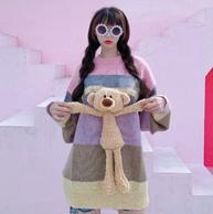 法国设计师品牌、超大玩偶:13 De Marzo Paris 彩虹立体小熊马海毛毛衣