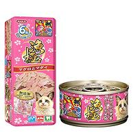 Akika渔极金枪鱼及三文鱼块猫粮罐头80g (进口)AY22