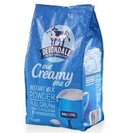 Devondale 德运 高钙全脂成人牛奶粉 1000克/袋 2袋