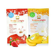 HappyBaby 禧贝 Happy Yogis Organic 溶溶豆 香蕉味+草莓味 2袋