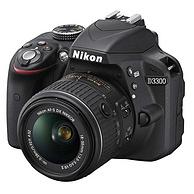 Nikon尼康 D3300 单反套机(AF-S DX 18-55mm f/3.5-5.6G VRII尼克尔镜头)黑色