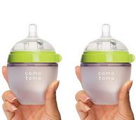 堪比海淘:Comotomo 可么多么 防胀气硅胶奶瓶 150ml *2 129元包邮包税(美亚20美元,京东175元/个)