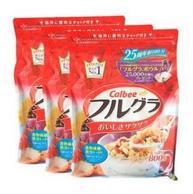 日本进口:Calbee卡乐比 果仁谷物水果麦片 800g*3