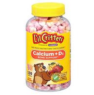 L'il Critters 丽贵 钙+维生素D3 小熊软糖 150粒*4瓶