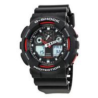 Casio 卡西欧 G-SHOCK GA100-1A1CR 双显腕表 54.99美元约¥361(京东729元起)