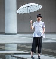 WPC制造商 女式长柄素色晴雨伞