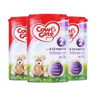 Cow & Gate 英国牛栏 婴幼儿奶粉 2段 900克/罐 3罐装