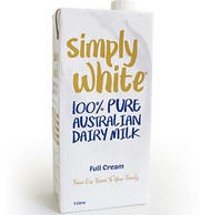 Simply white 全脂UHT牛奶(1Lx12)三箱