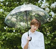 Cmon 加厚透明 14骨雨伞