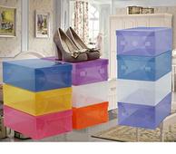 正浦 加厚透明抽屉鞋盒 10个装