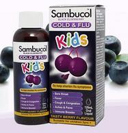 Sambucol 黑接骨木儿童果味糖浆 120ml*2瓶