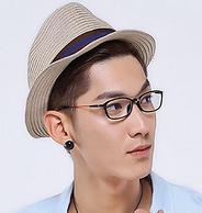 HAN 时尚超轻全框眼镜 送1.56蓝光近视镜片