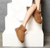 UGG制造商供货,短筒皮毛一体雪地靴
