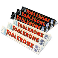 Toblerone 瑞士三角 黑巧50g*3+白巧50g*3